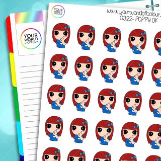 O.K. Poppy Character Stickers