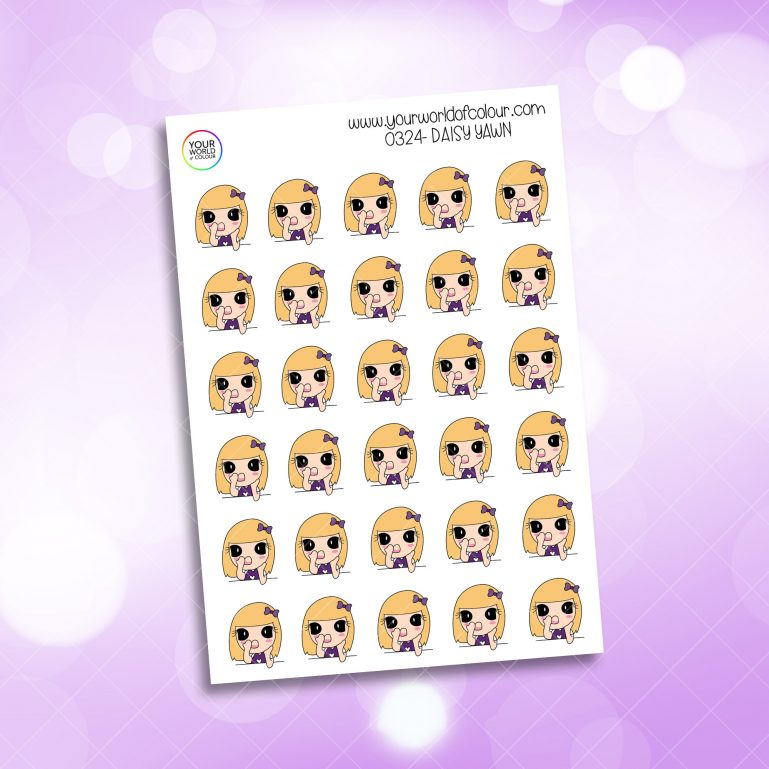 Yawn Daisy Character Sticker