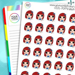 Yawn Poppy Character Stickers
