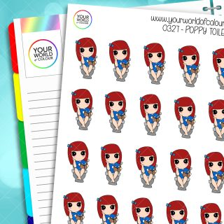 Toilet Poppy Character Stickers