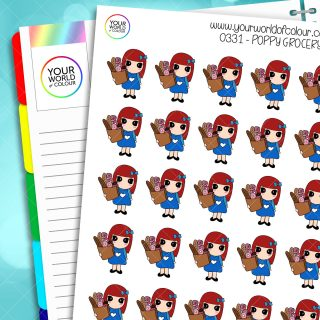 Grocery Poppy Character Stickers