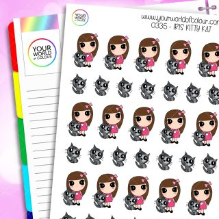 Kitty Kat Iris Character Stickers