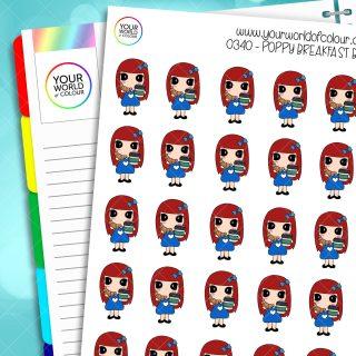 Breakfast Poppy Character Stickers