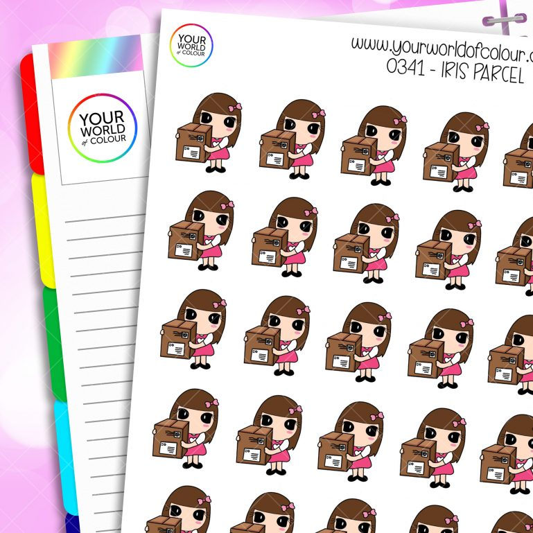 Parcel Iris Character Stickers