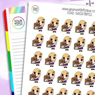 Parcel Daisy Character Stickers