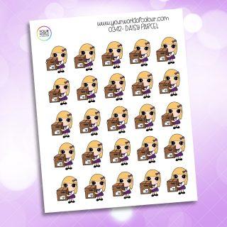 Parcel Daisy Character Sticker