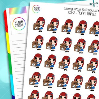 Parcel Poppy Character Stickers