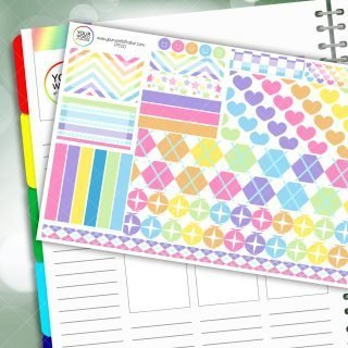 Sherbet Rainbow Passion Planner Daily Sticker Kit