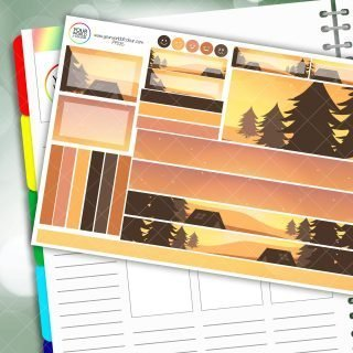 Sunset Camp Passion Planner Daily Sticker Kit