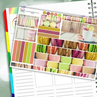 Macaroon Delights Passion Planner Daily Sticker Kit