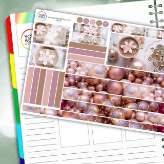 Festive Pinks Passion Planner Daily Sticker Kit