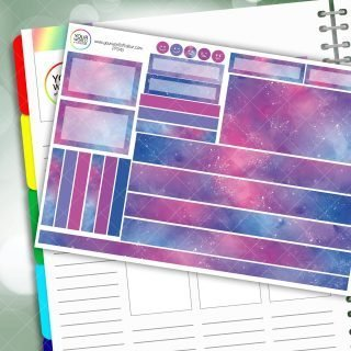 Galaxy Passion Planner Daily Sticker Kit