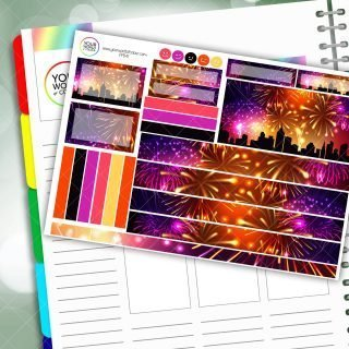 City Fireworks Passion Planner Daily Sticker Kit