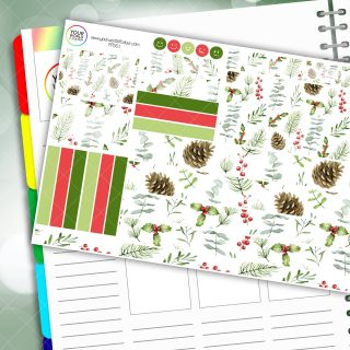 Festive Berries Passion Planner Daily Sticker Kit