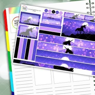 Mystic Unicorn Passion Planner Daily Sticker Kit