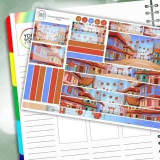 Chinatown Passion Planner Daily Sticker Kit