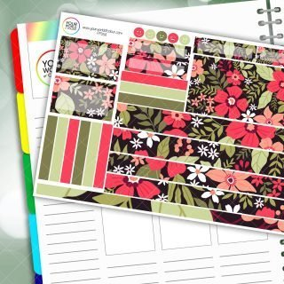 Flower Garden Passion Planner Daily Sticker Kit