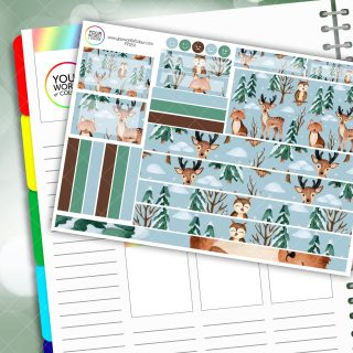 Winter Animals Passion Planner Daily Sticker Kit