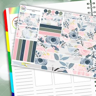 Pretty Floral Passion Planner Daily Sticker Kit
