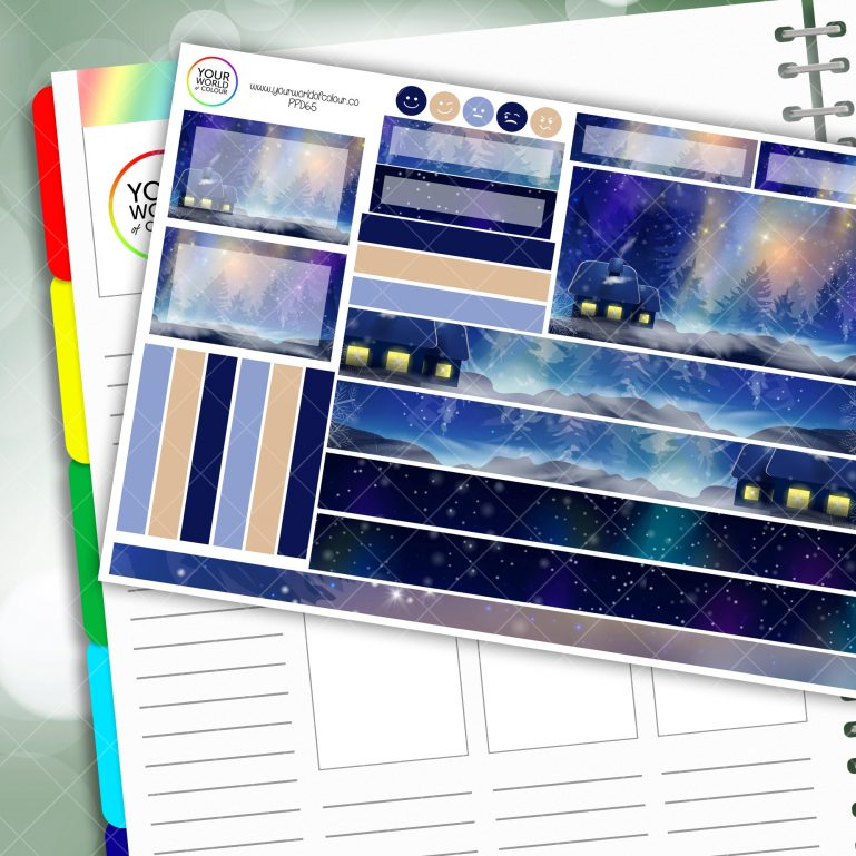 Galaxy Winter Passion Planner Daily Sticker Kit