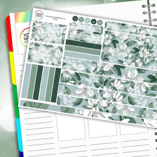 Floral Faze Passion Planner Daily Sticker Kit