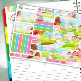 Cake Island Passion Planner Daily Sticker Kit