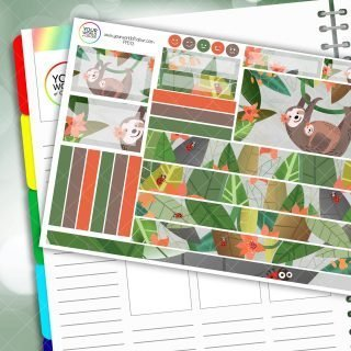Sloth Passion Planner Daily Sticker Kit