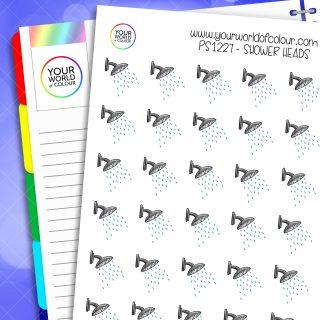 Shower Head Planner Stickers