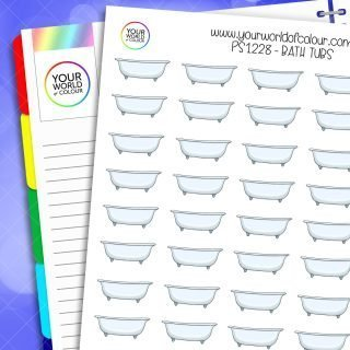 Bath Tubs Planner Stickers
