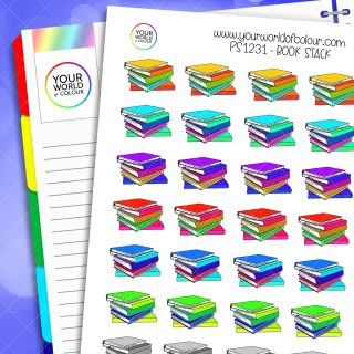 Book Stack Planner Stickers
