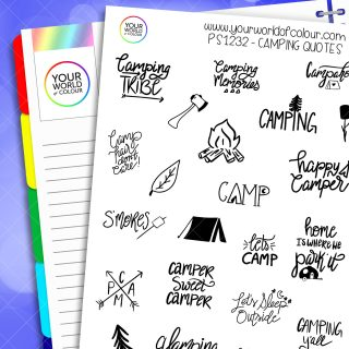 Camping Quotes Planner Stickers
