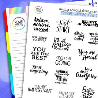 Happy Quotes 1 Planner Stickers