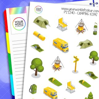 Camping Icons Planner Stickers
