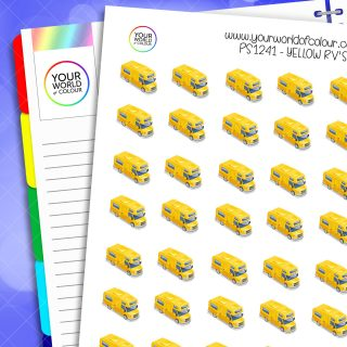 Yellow RV's Planner Stickers