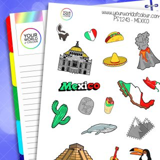 Mexico Planner Stickers