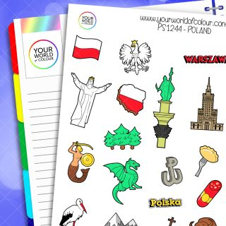 Poland Planner Stickers