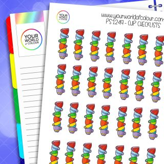 Cup Checklists Planner Stickers