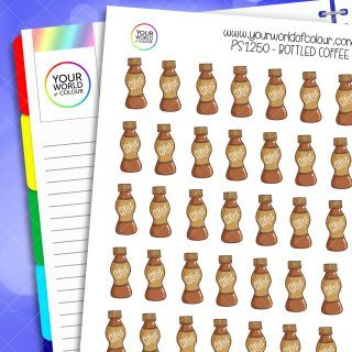 Bottled Coffee Planner Stickers