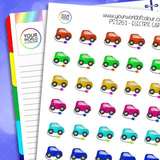Electric Car Planner Stickers