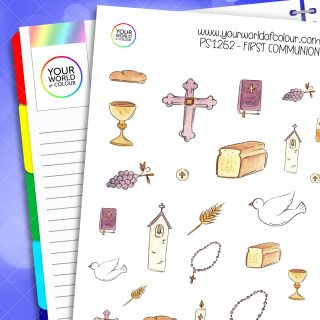 First Communion Planner Stickers