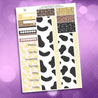 Banana Milk Washi and Date Cover Stickers