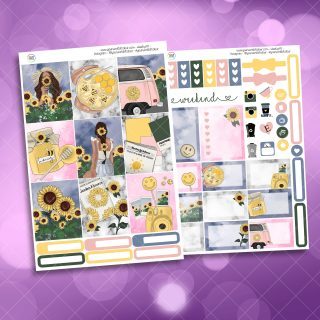 Sunflower Garden Two Sheet Weekly Planner Sticker Kit