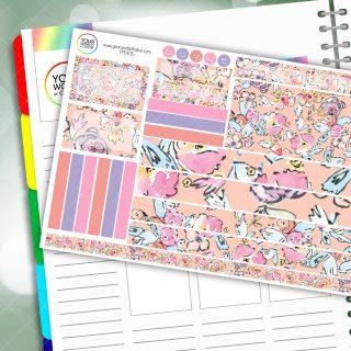 Artists Floral Passion Planner Daily Sticker Kit