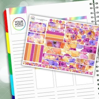 Juicy Floral Passion Planner Daily Sticker Kit