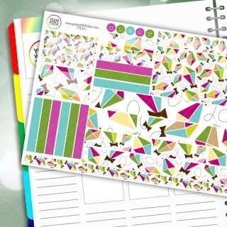 Kites Passion Planner Daily Sticker Kit