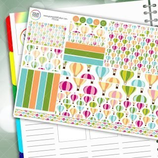 Hot Air Passion Planner Daily Sticker Kit