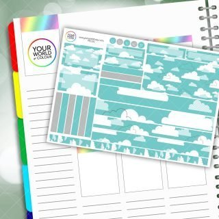 Clouds Passion Planner Daily Sticker Kit