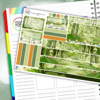 Spring Woods Passion Planner Daily Sticker Kit