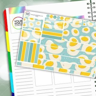 Eggs Passion Planner Daily Sticker Kit