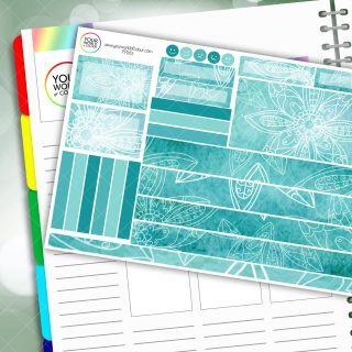 Blue Mood Passion Planner Daily Sticker Kit